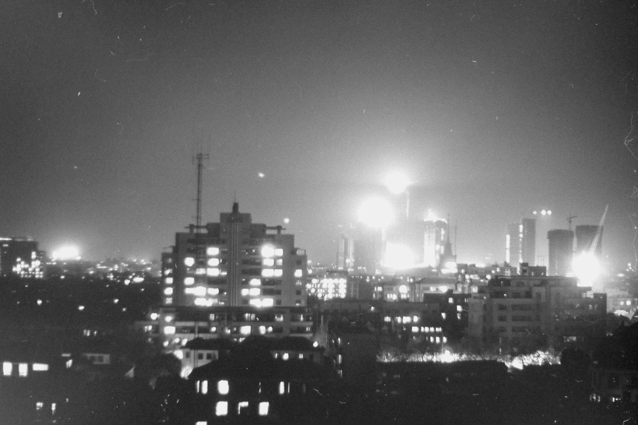 15/12/1988: 24: night view of Shanghai