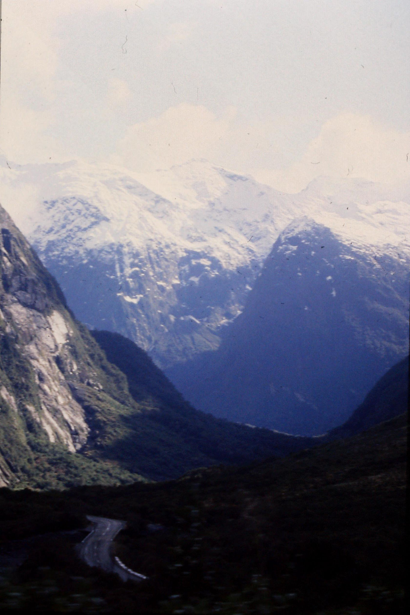15/8/1990: 4: down valley west side of Homer tunnel