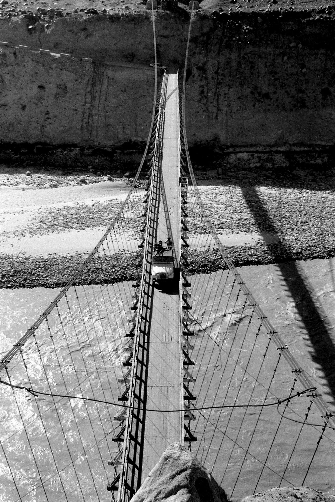 14/9/1989: 26: Gilgit suspension bridge