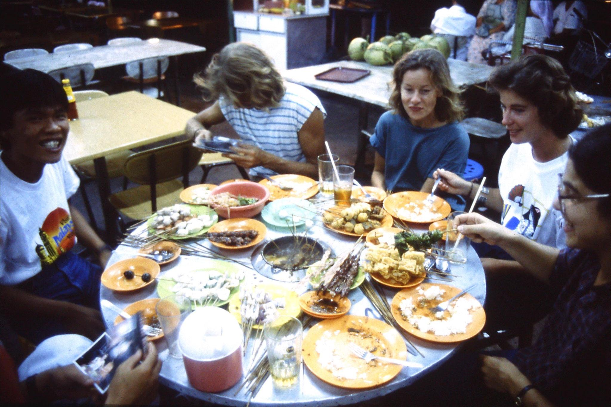 8/7/1990: 4: Melaka Sate dip dinner