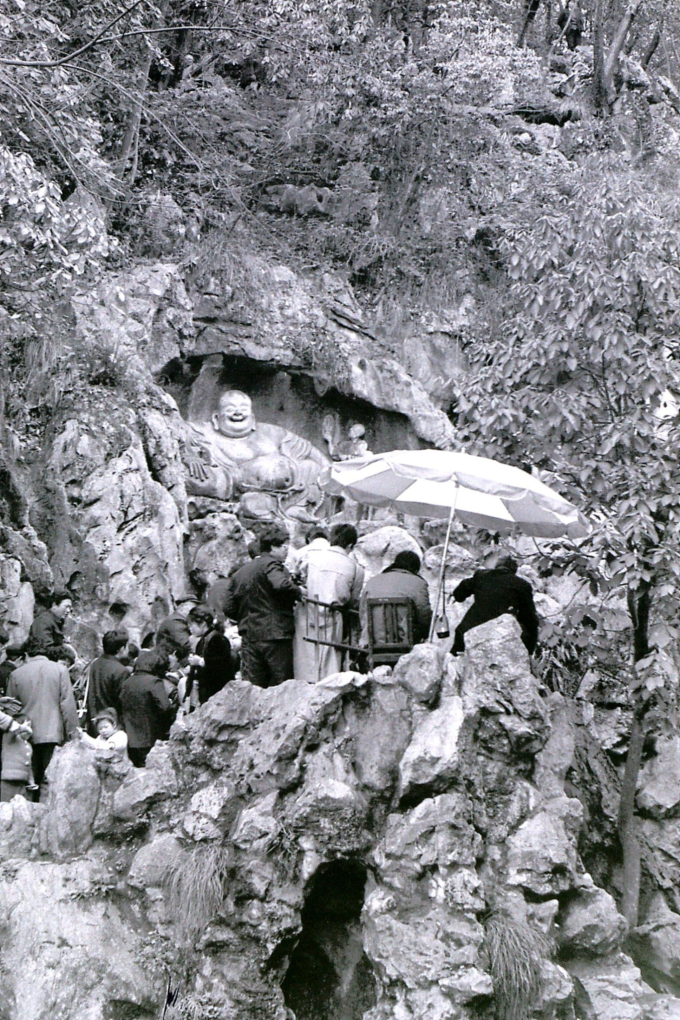 25/3/1989: 31: Hangzhou Laughing Buddha on cliff