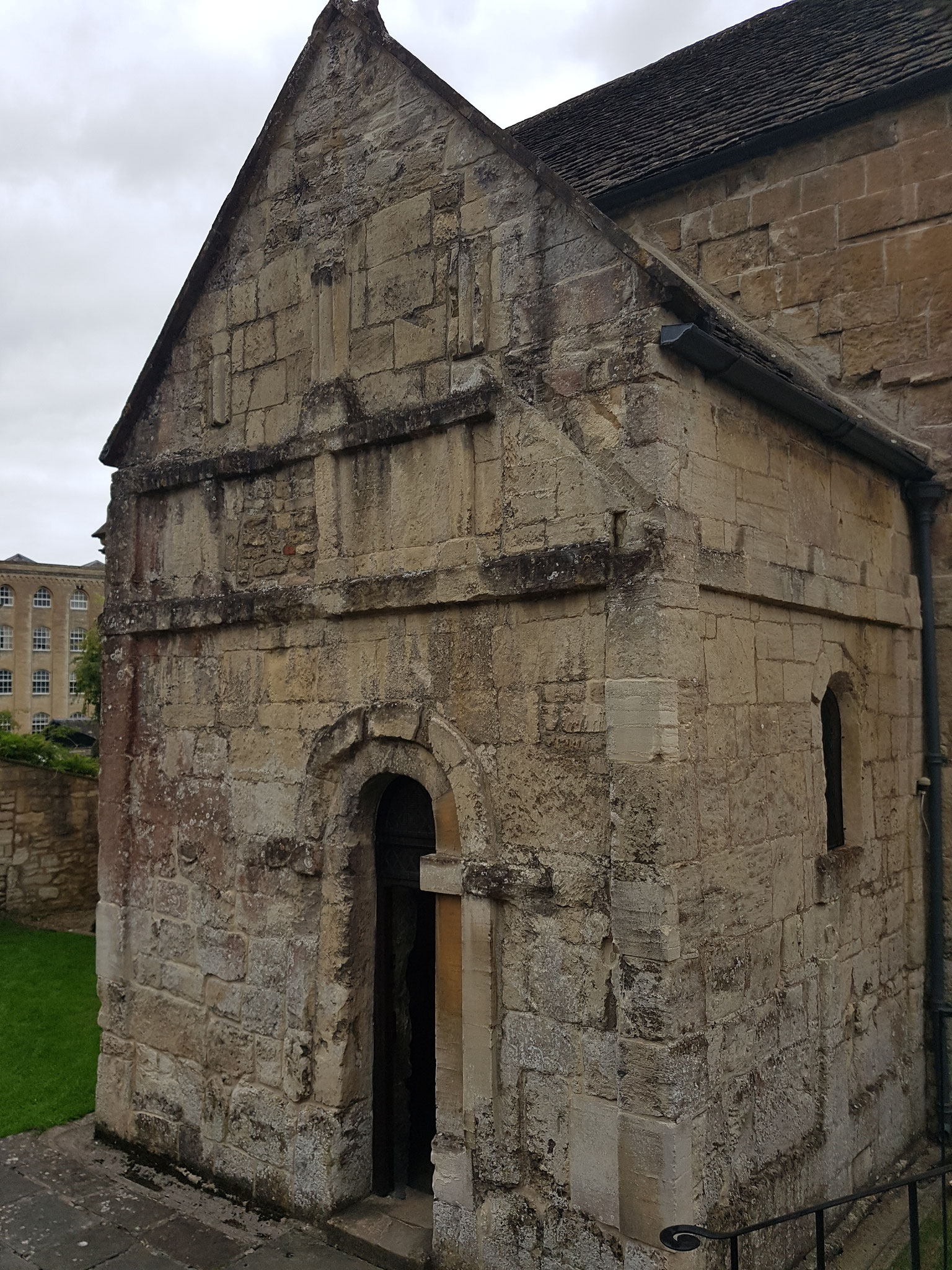 St Laurence, probably built by St Aldhelm at end of 8th century
