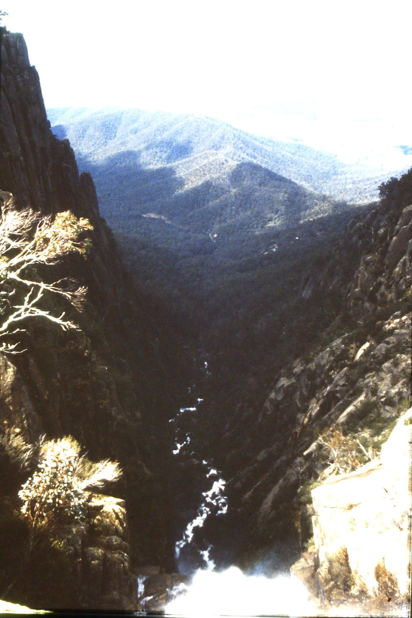 28/9/1990: 33: looking down from Crystal Brook at top