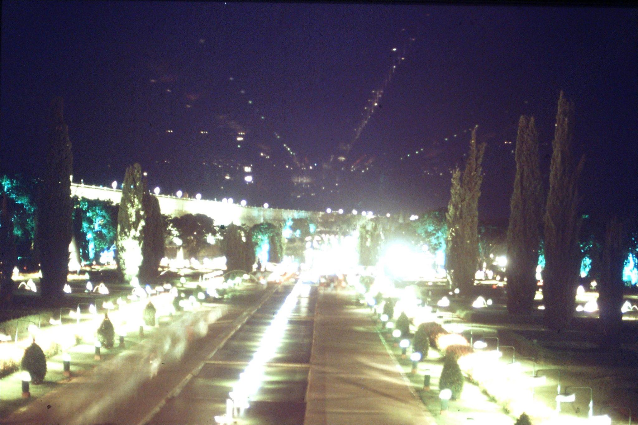 108/9: 12/3/1990 Brindavan Garden at night (15 secs)