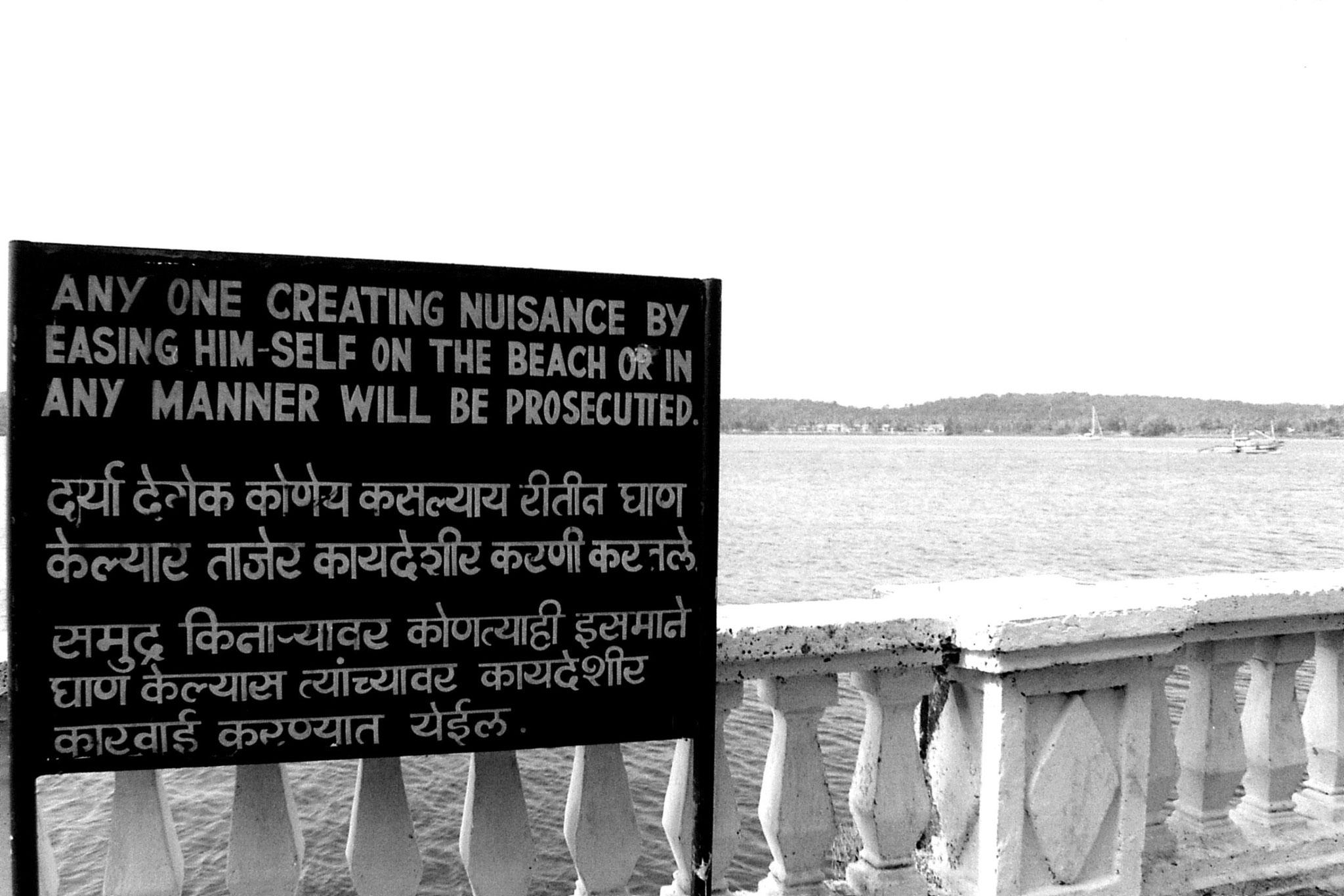 29/12/1989: 34: Panjim Goa sign on promenade