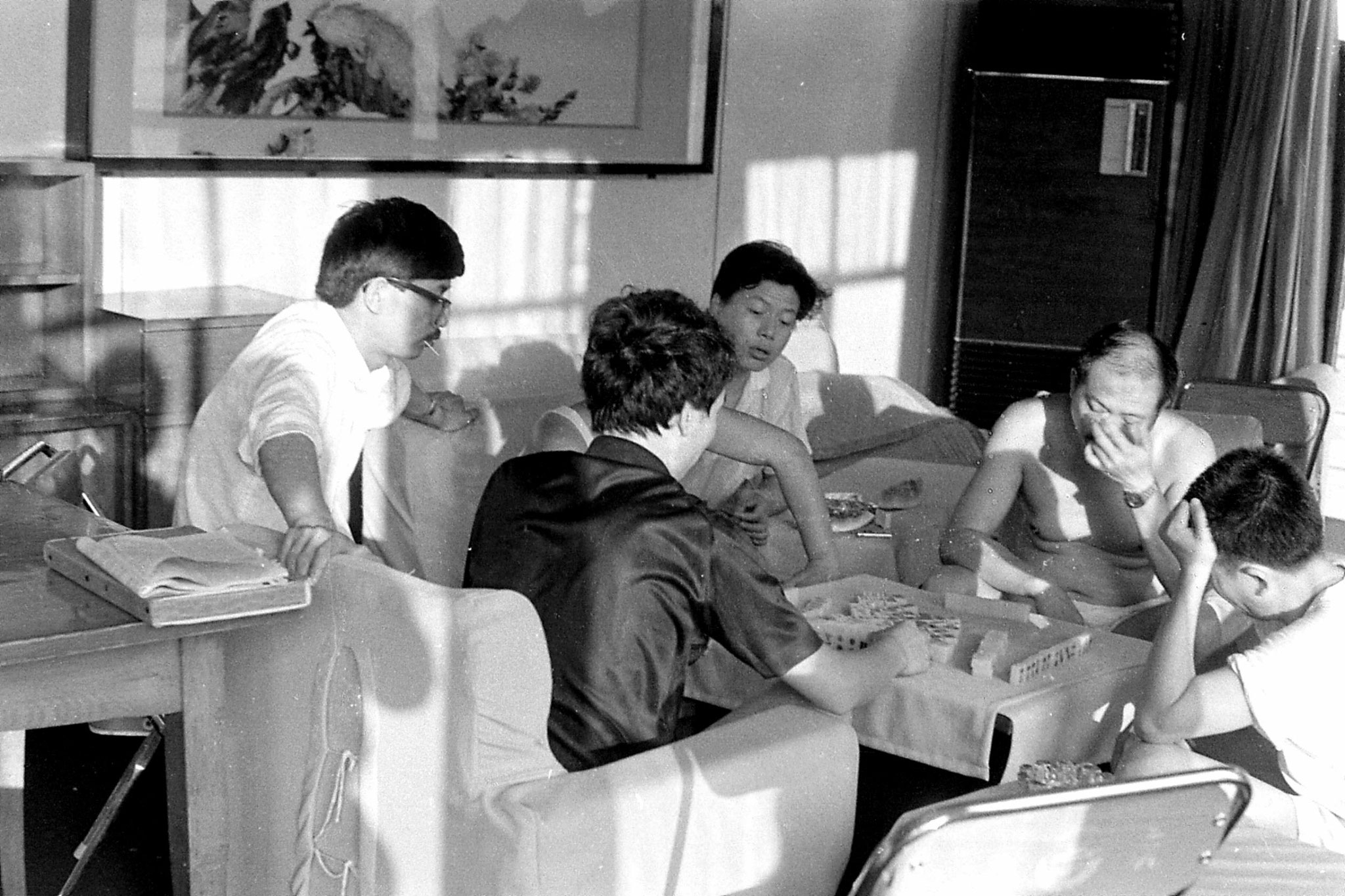 10/8/1989: 21: 1925hrs Mah Jong players in 2nd class lounge