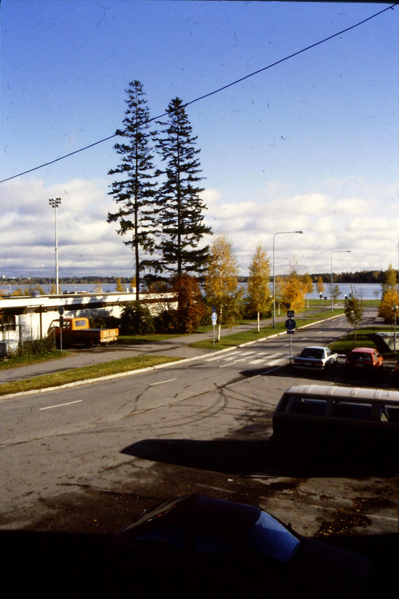 11/10/1988: 10: view from hotel at Otaniemi