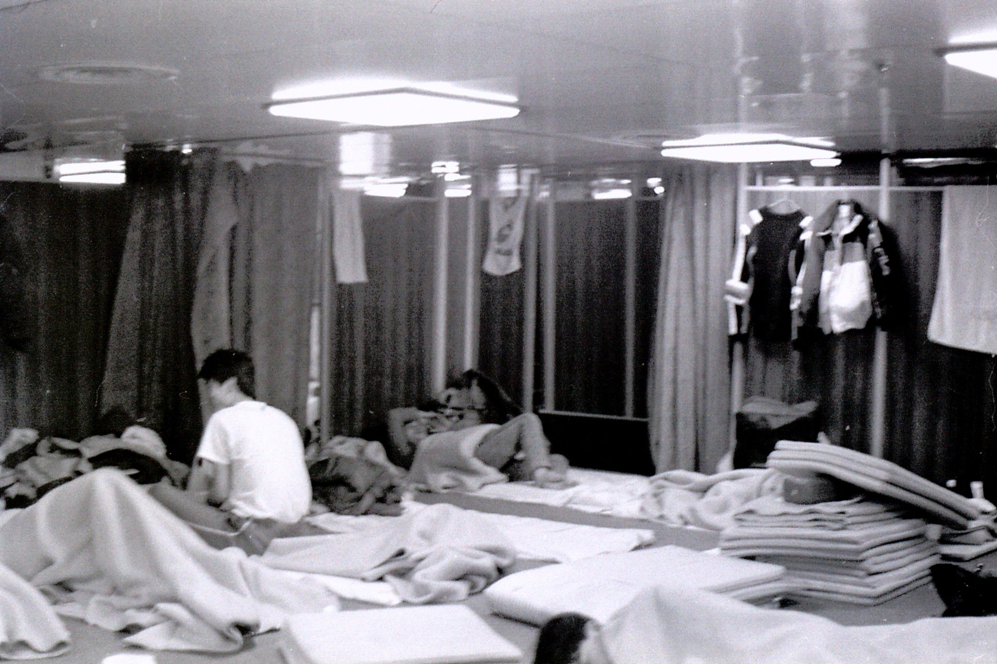 6/2/1989: 29: sleeping quarters on boat to Shanghai