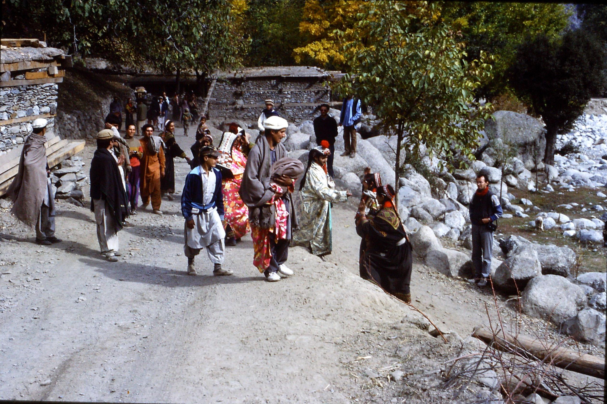 1/11/1989: 2: Kalash Valley, Bumburet, bridal procession
