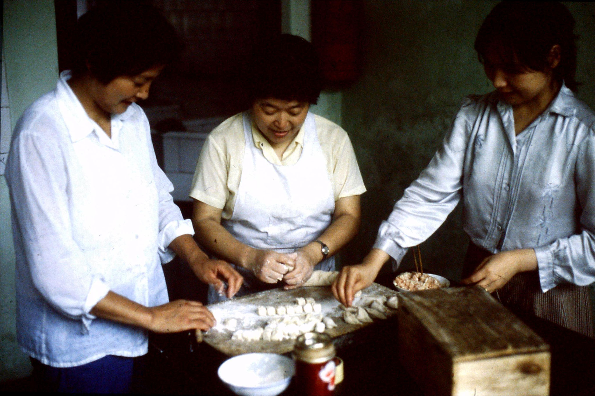 8/7/1989: 25: women making jiaozi