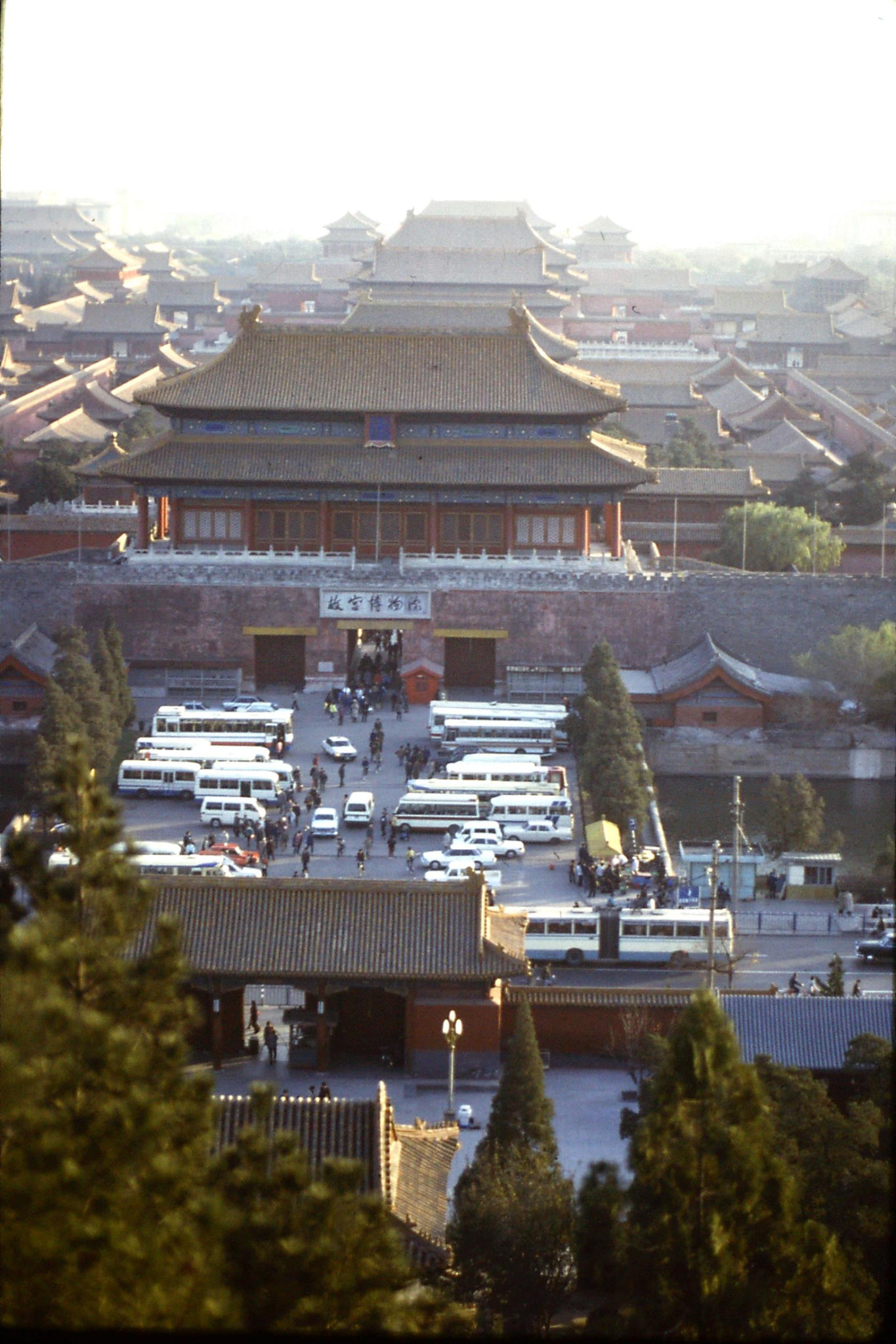 18/11/1988: 32: view of Forbidden City from Coal Hill