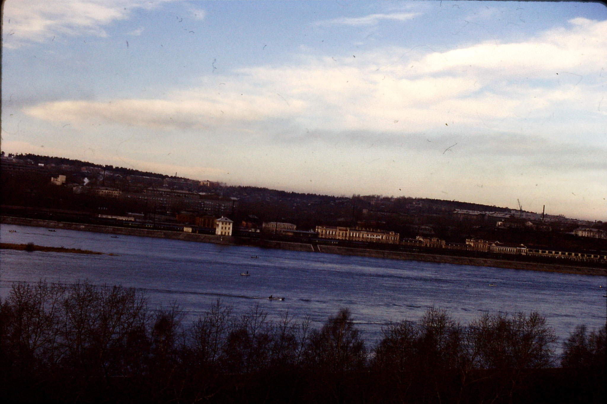 22/10/1988: 21: Irkutsk Station and river from hotel window
