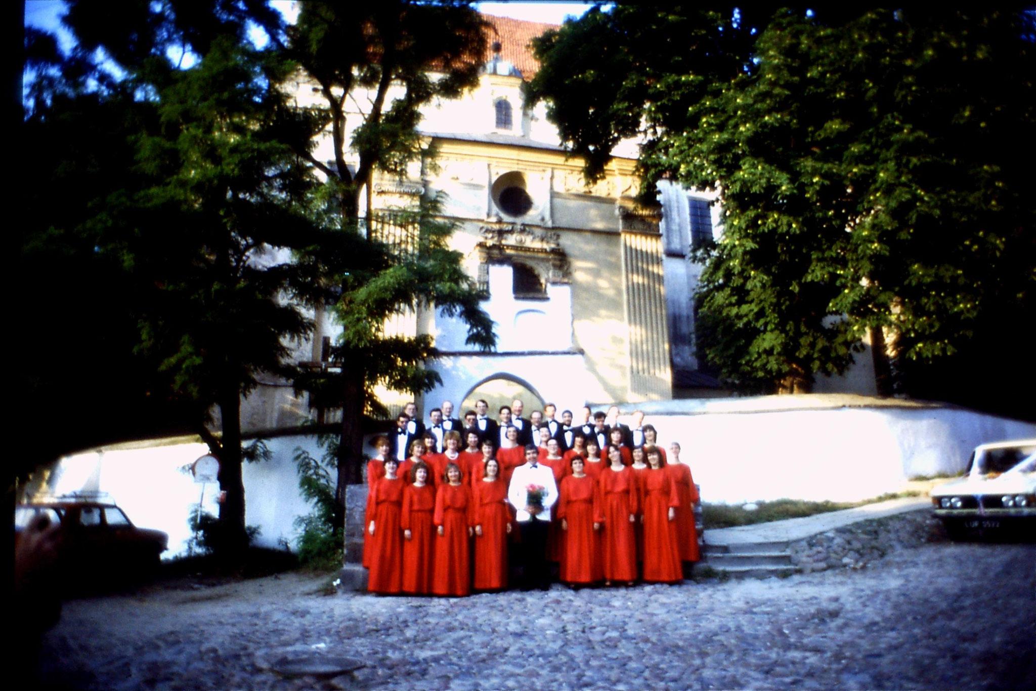 27/8/1988: 10: London Chorale at Kazimierz Dolny