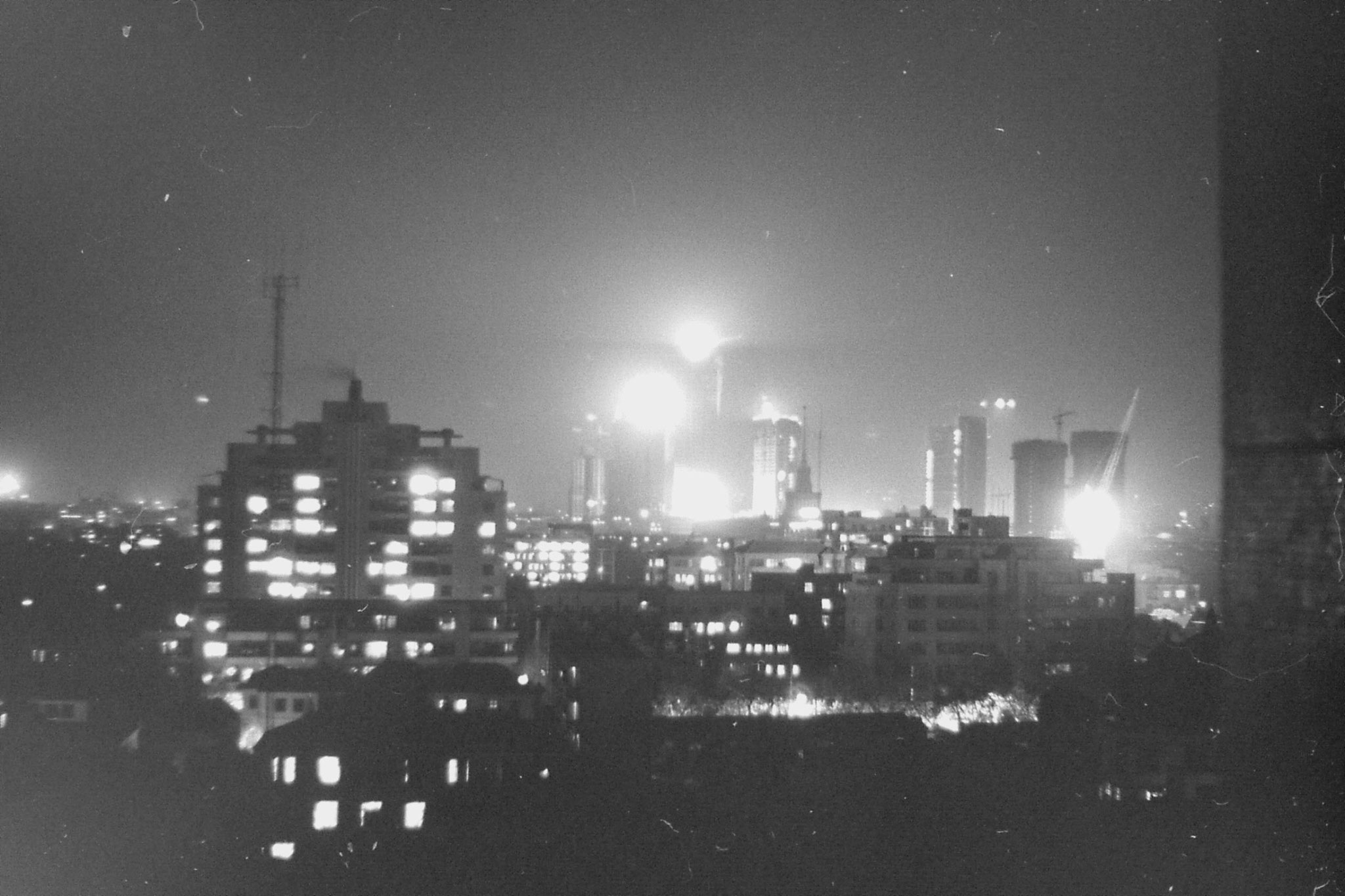15/12/1988: 28: night view of Shanghai
