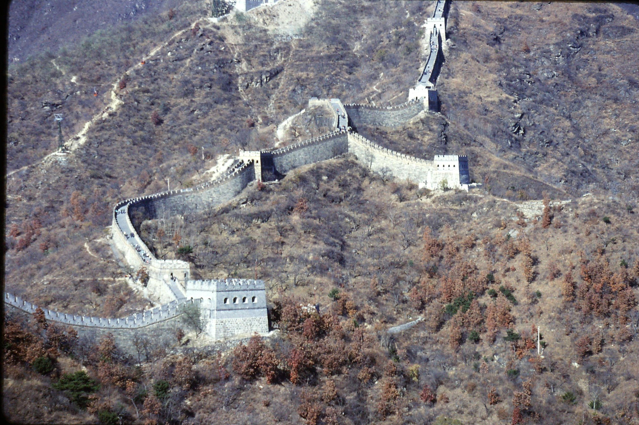 13/11/1988: 21: Great Wall at Mutianyu