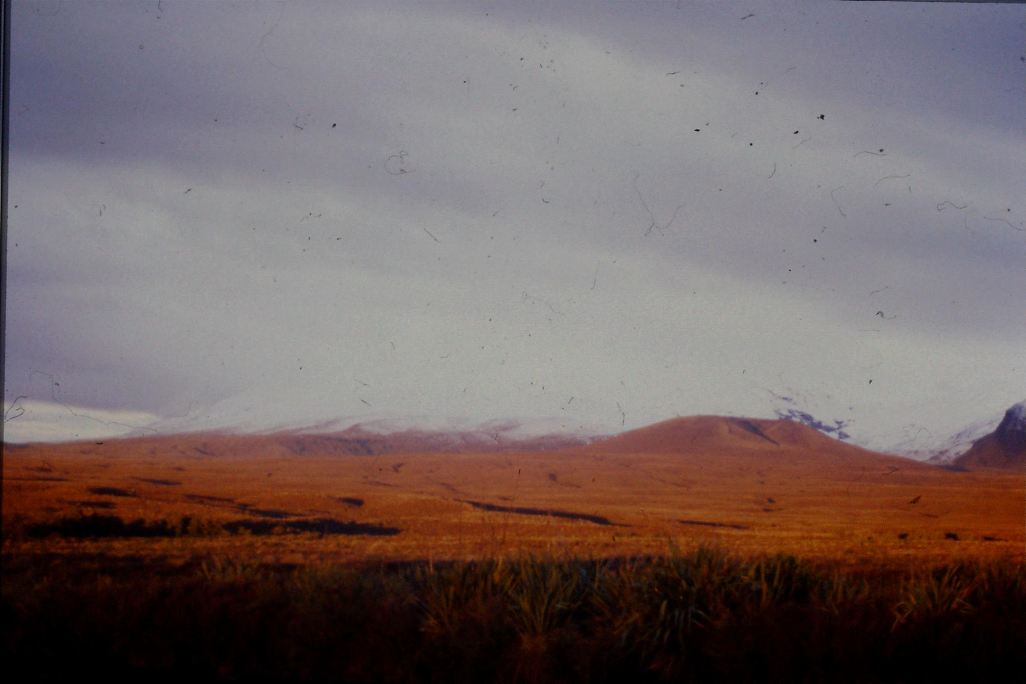 29/8/1990: 4: sunset on Mt Ngauruhoe