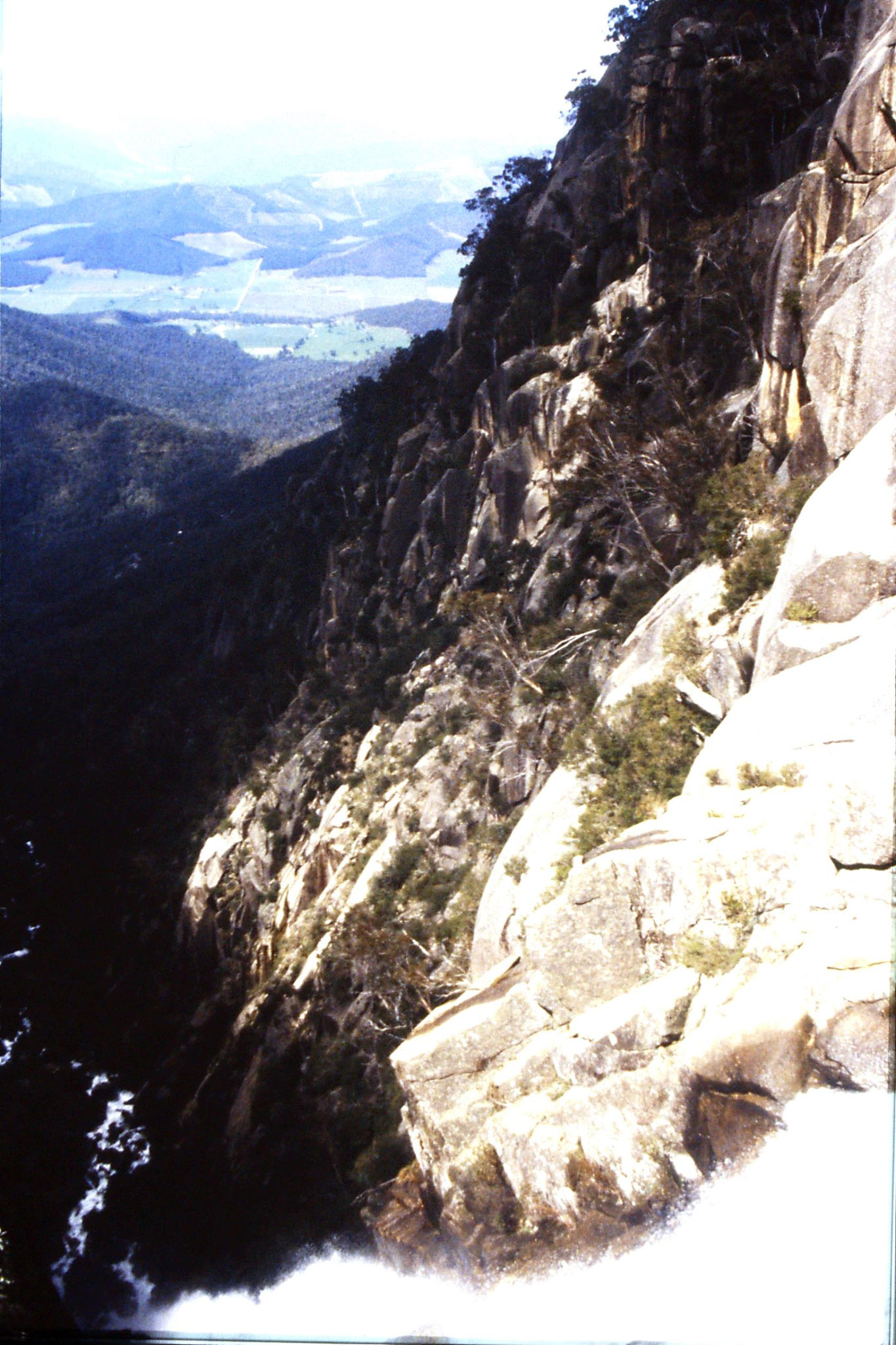 28/9/1990: 34: looking down from Crystal Brook at top