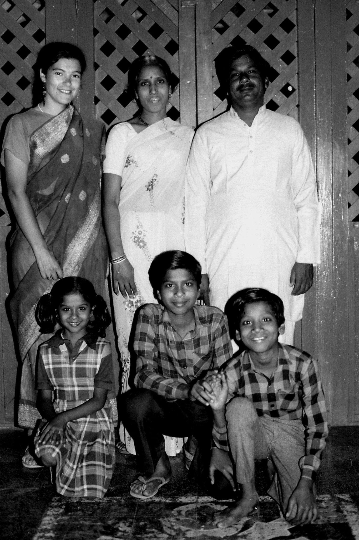 11/12/1989: 24: Chourasia family with Elizabeth