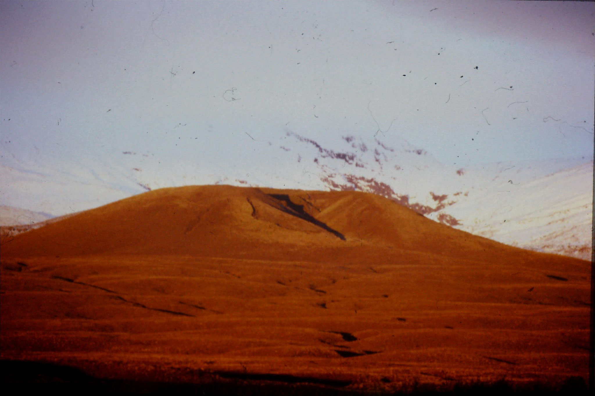29/8/1990: 6: sunset on Mt Ngauruhoe