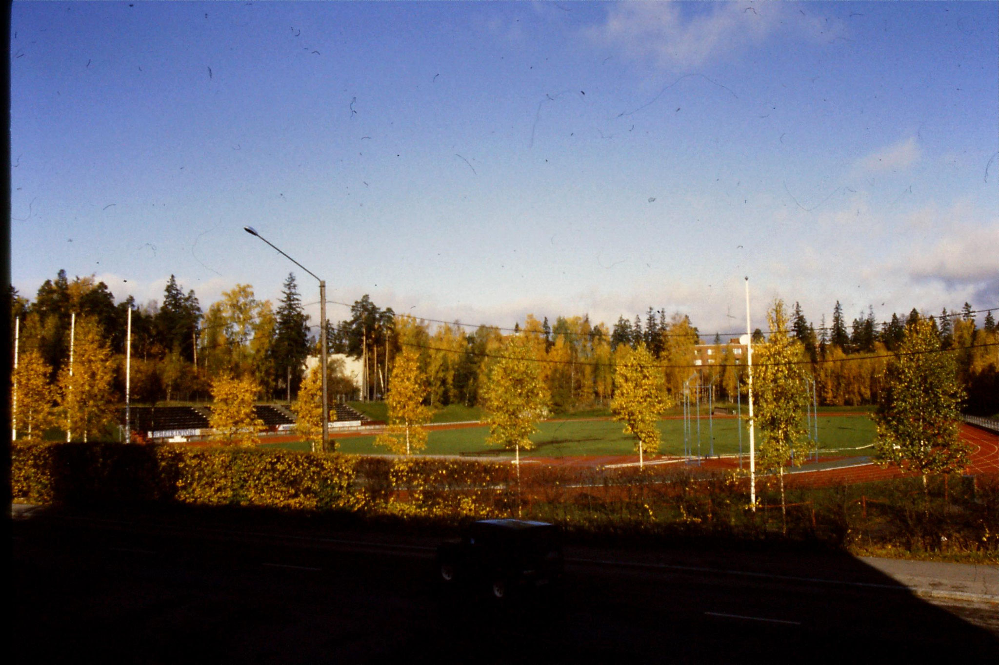 11/10/1988: 9: view from hotel at Otaniemi
