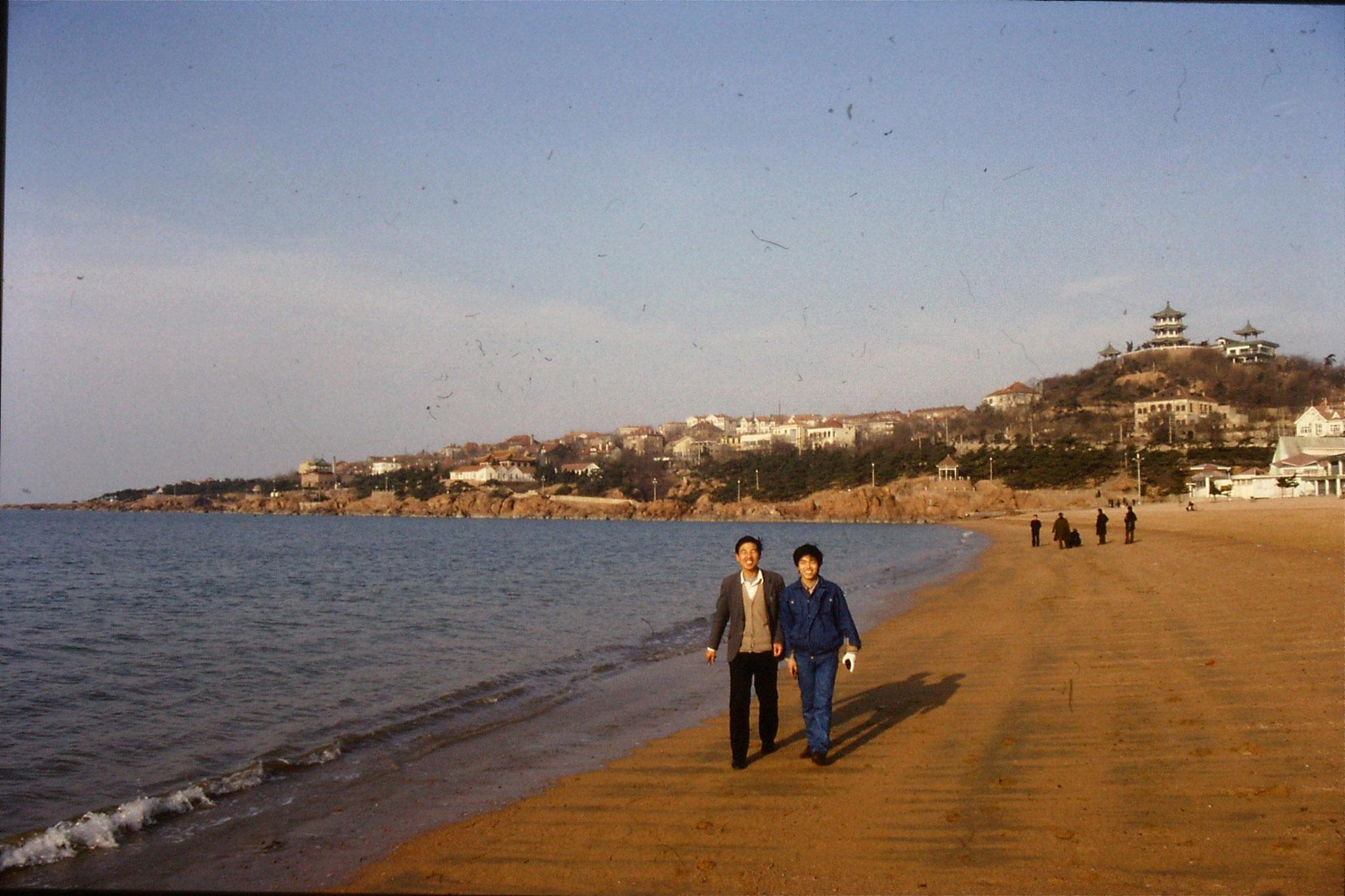 14/2/1989: 2: Qingdao beach
