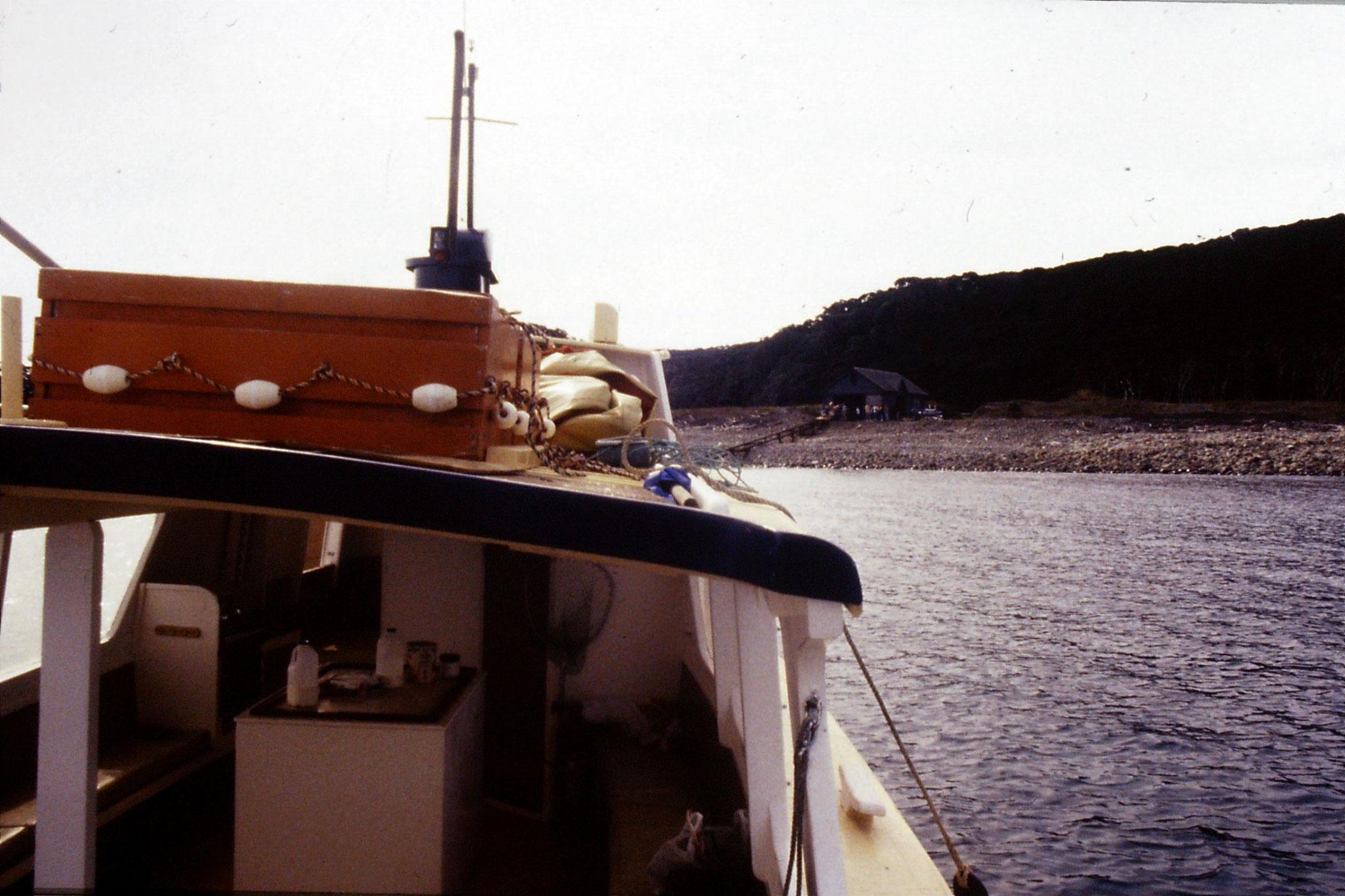 2/9/1990: 14: boat from Little Barrier Is
