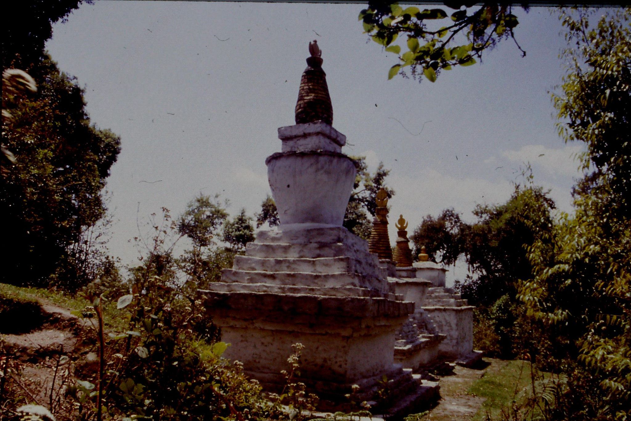 115/30: 28/4/1990 Pelling - row of stupas