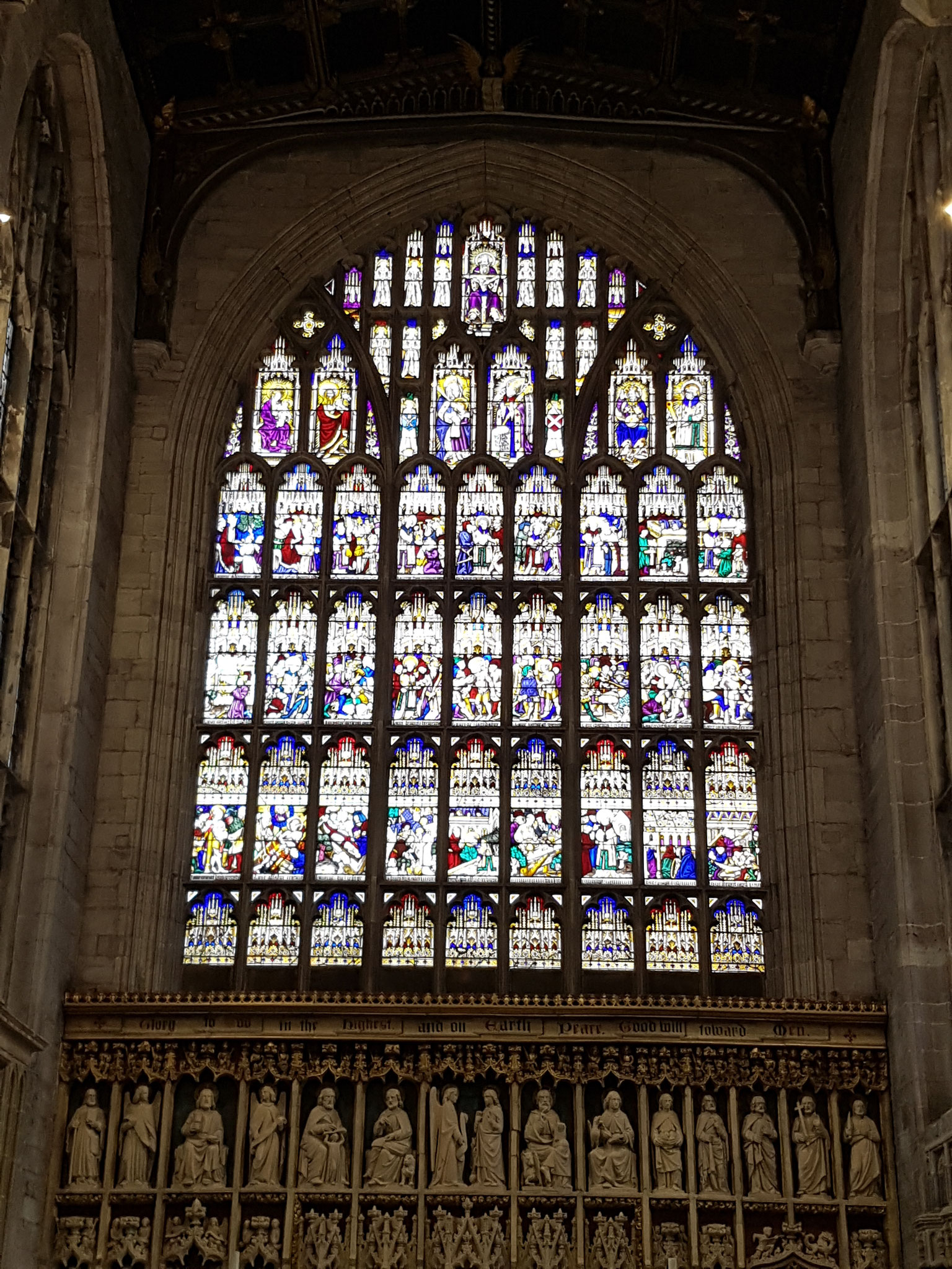 East window, dating from 1430s tells story of St Laurence