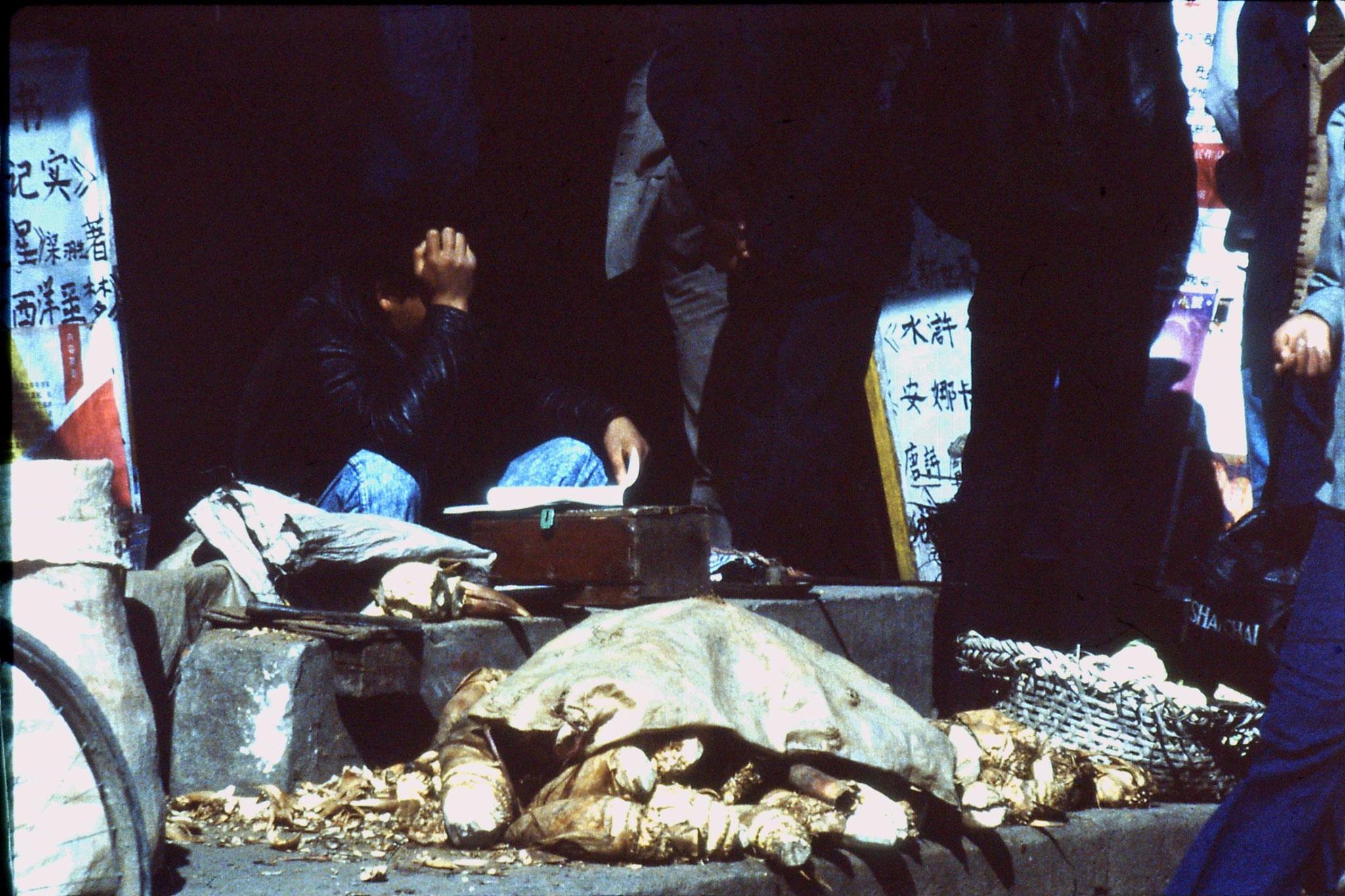 21/3/1989: 31: Suzhou market lotus blossoms