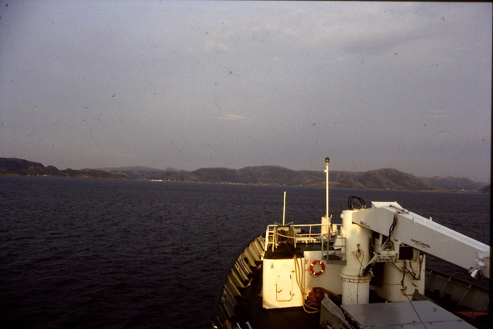 23/9/1988: 20: prow of Kong Olav near Stoksund