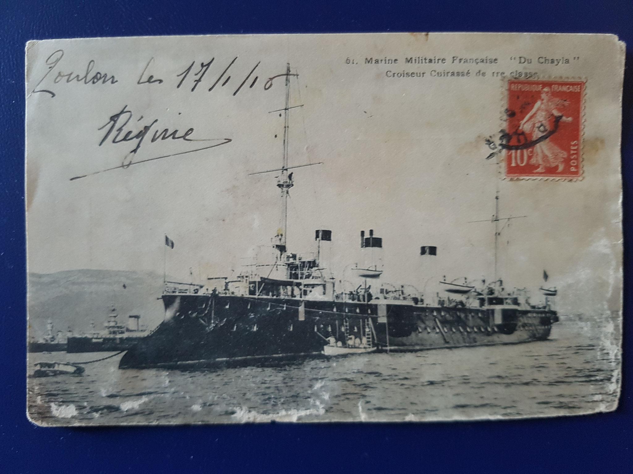 40: Marine Militaire Francaise 'Du Chayla' Croiseur Cuirasse de tre classe