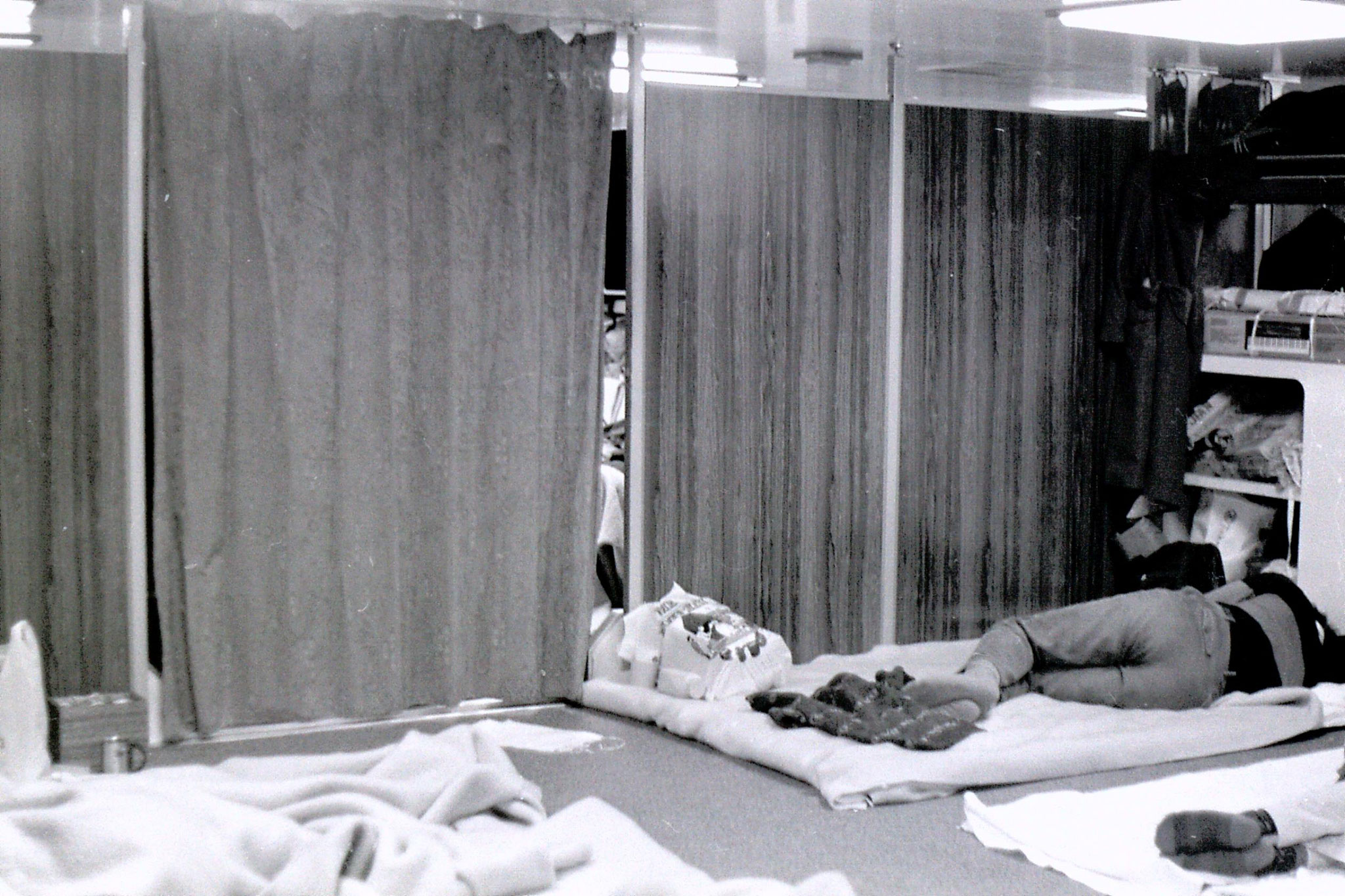 6/2/1989: 30: sleeping quarters on boat to Shanghai