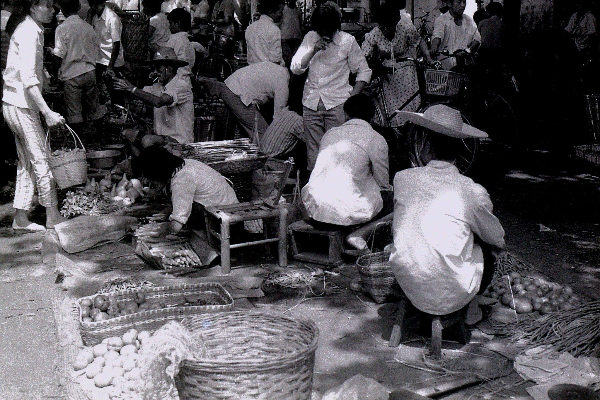 27/6/1989: 26: Shaoxing market, vegetables