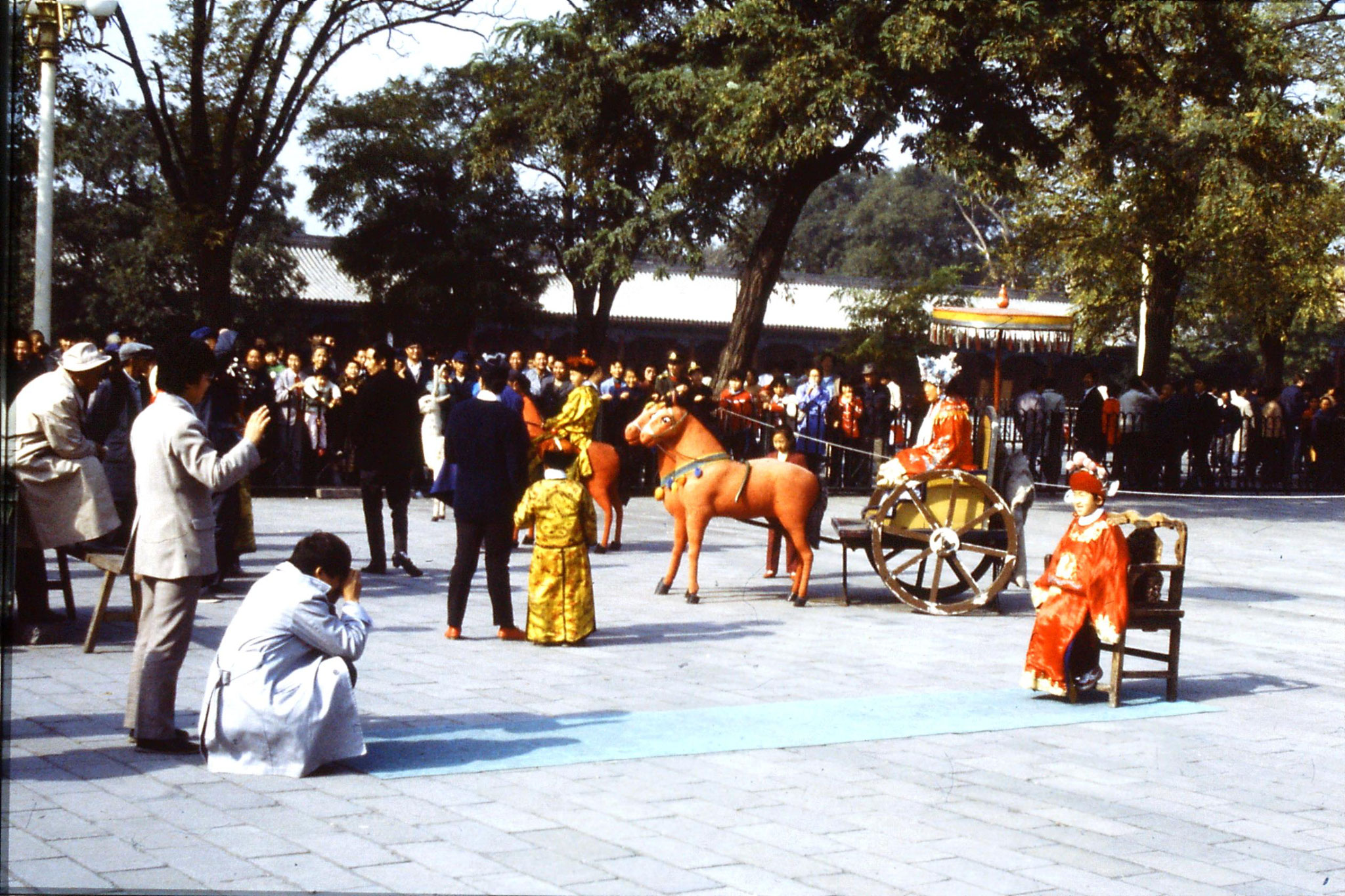 30/10/1988: 27: costume photos between Tiananmen Gate and Forbidden City