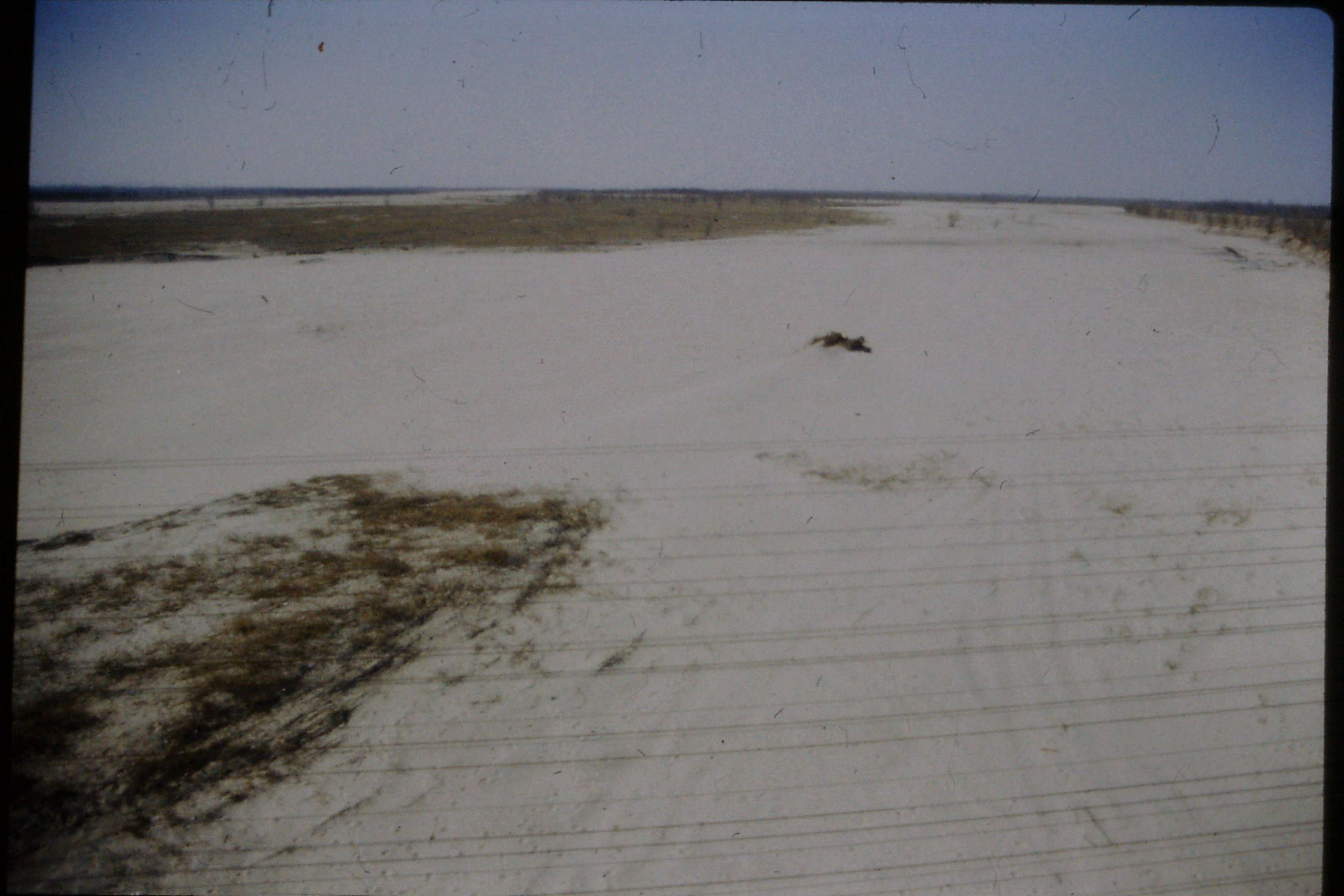 7/3/1989: 6: Journey Xian to Beijing, 1455 dry river bed after Shizuazheng
