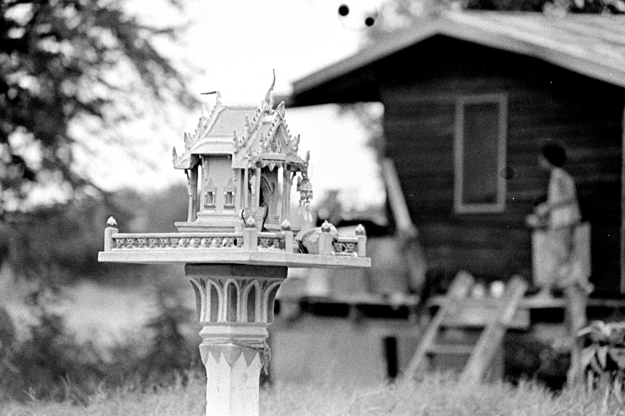 7/6/1990: 12: Manorom, house and spirit house