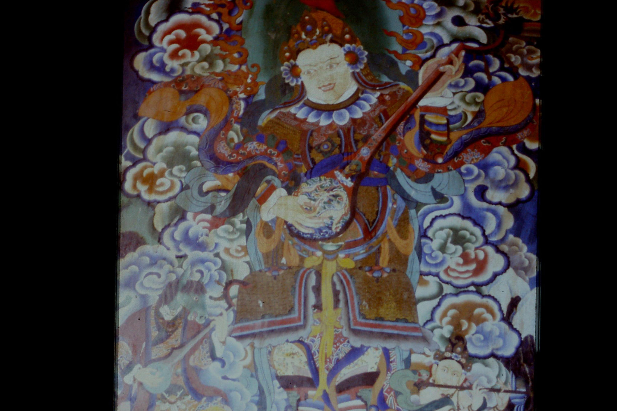 115/9: 23/4/1990 Rumtek Monastery - mural