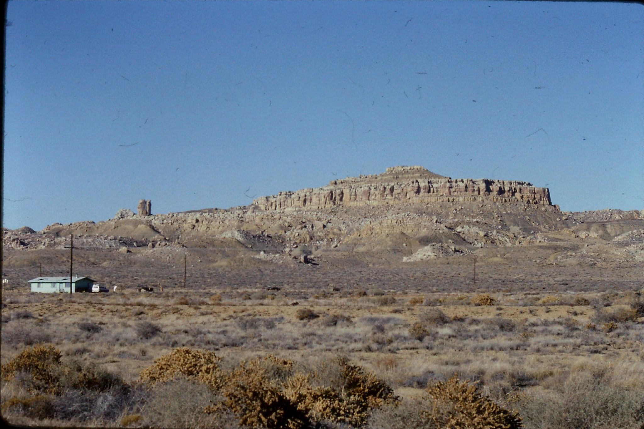 14/12/1990: 15: Second mesa with Corn Rock on left