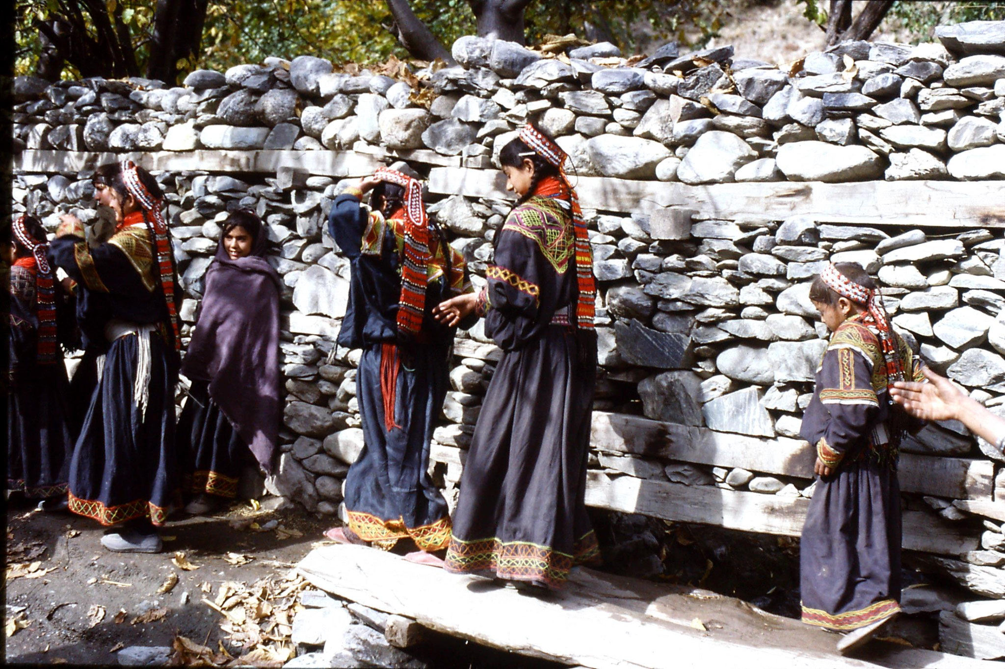1/11/1989: 1: Kalash Valley, Bumburet, bridal procession