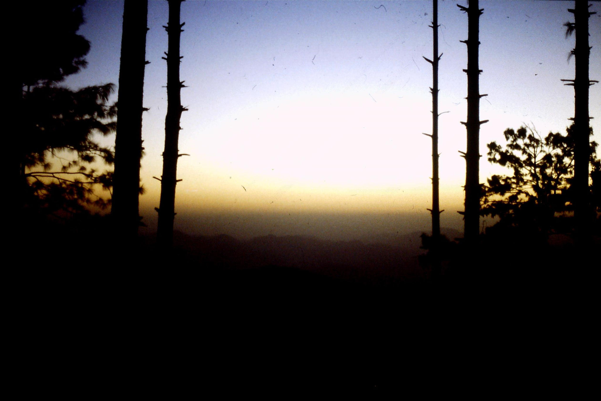 28/9/1989: 9: sunset in Murree