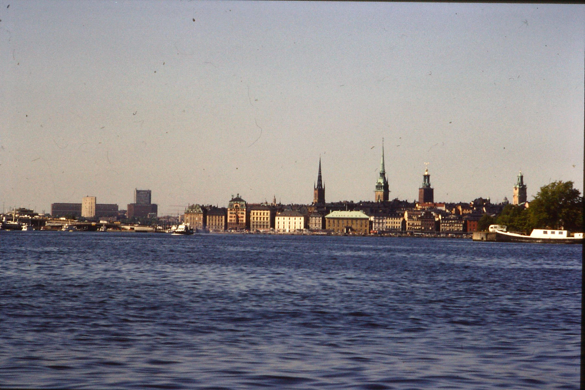 7/9/1988: 29: Stockholm Old Town from boat