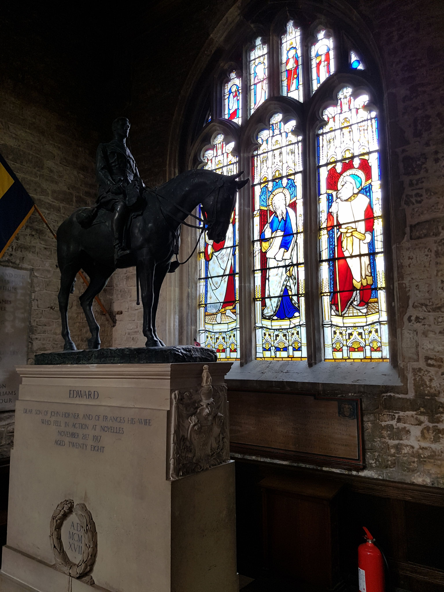 Munning's equestrian statue of Edward Horner