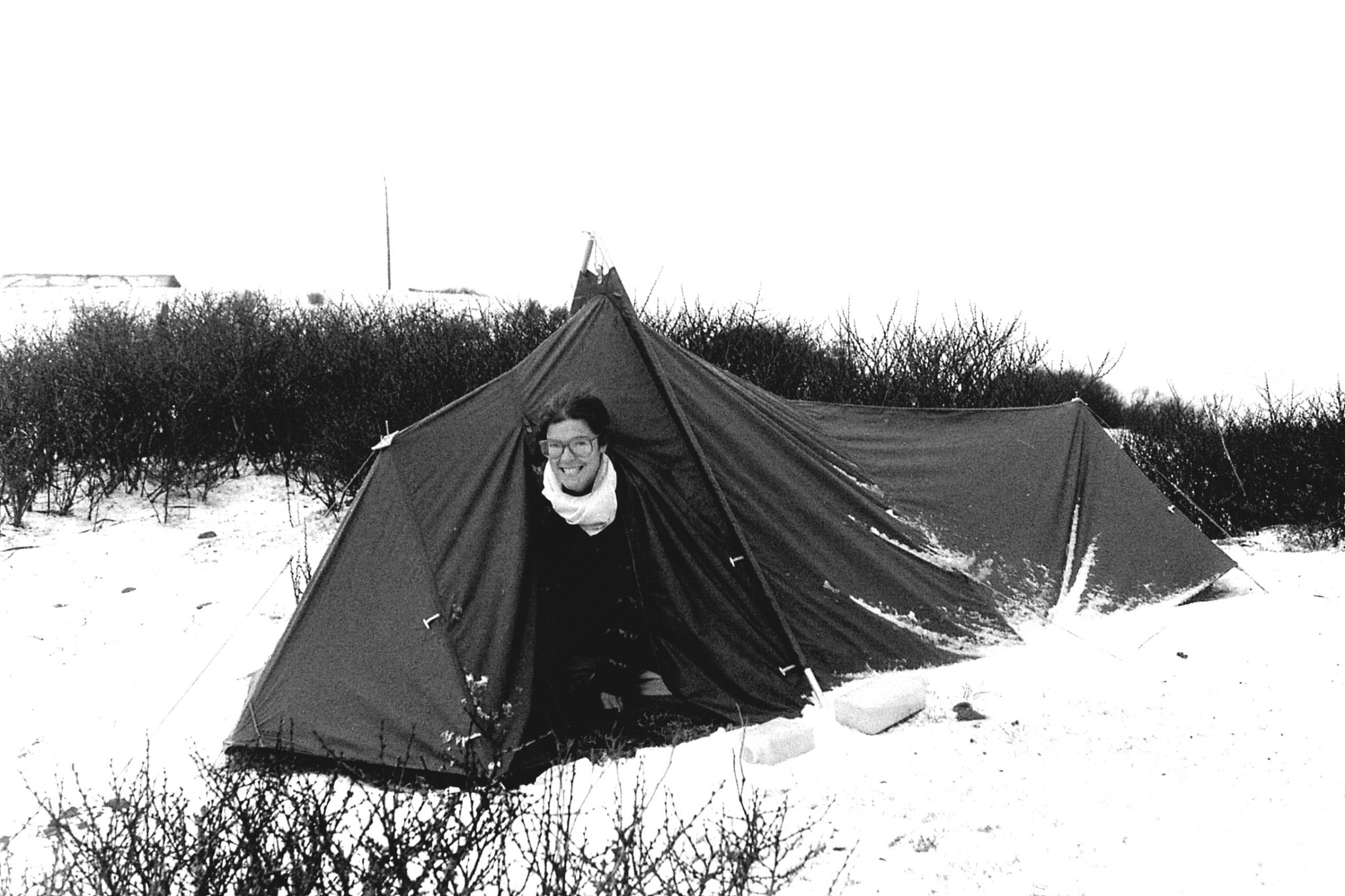 6/5/1990: 13: Sandakpu E in tent after hail