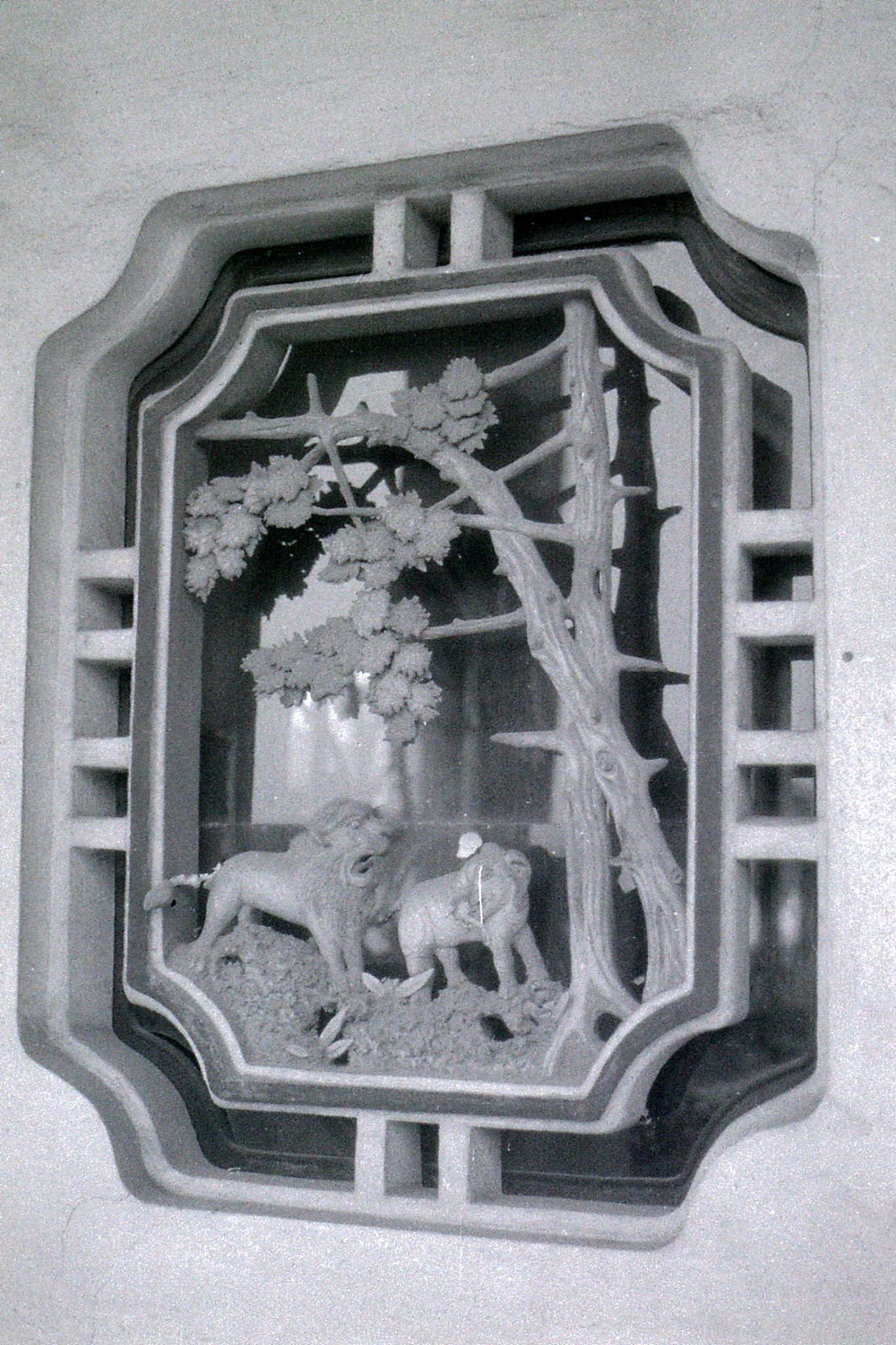 27/6/1989: 25: Shaoxing, window carving