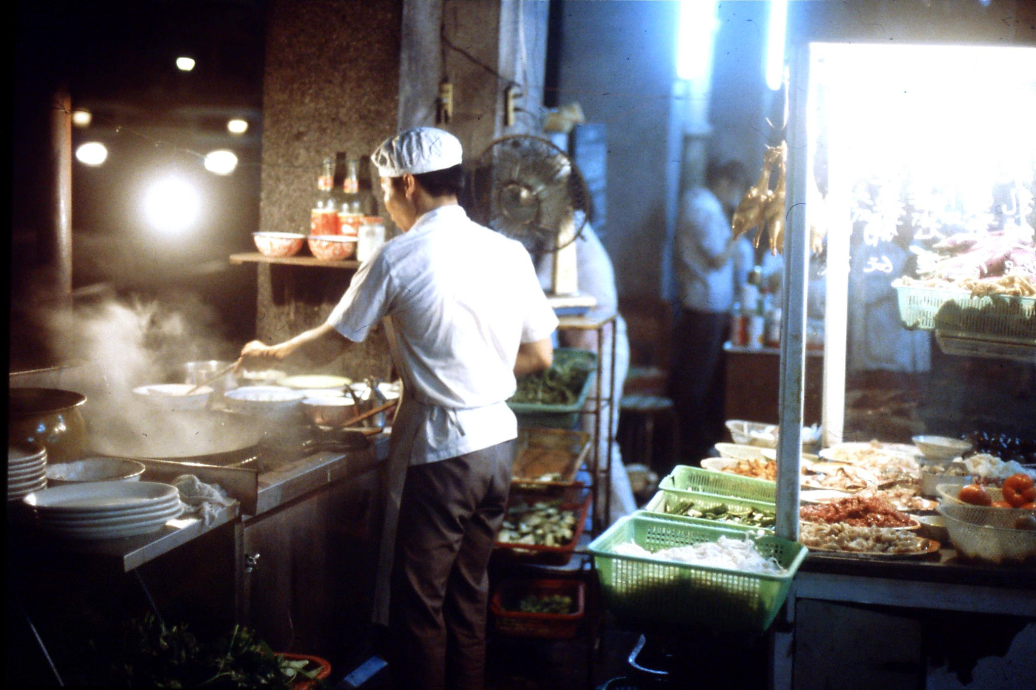 18/5/1989: 8: Guangzhou evening food stall