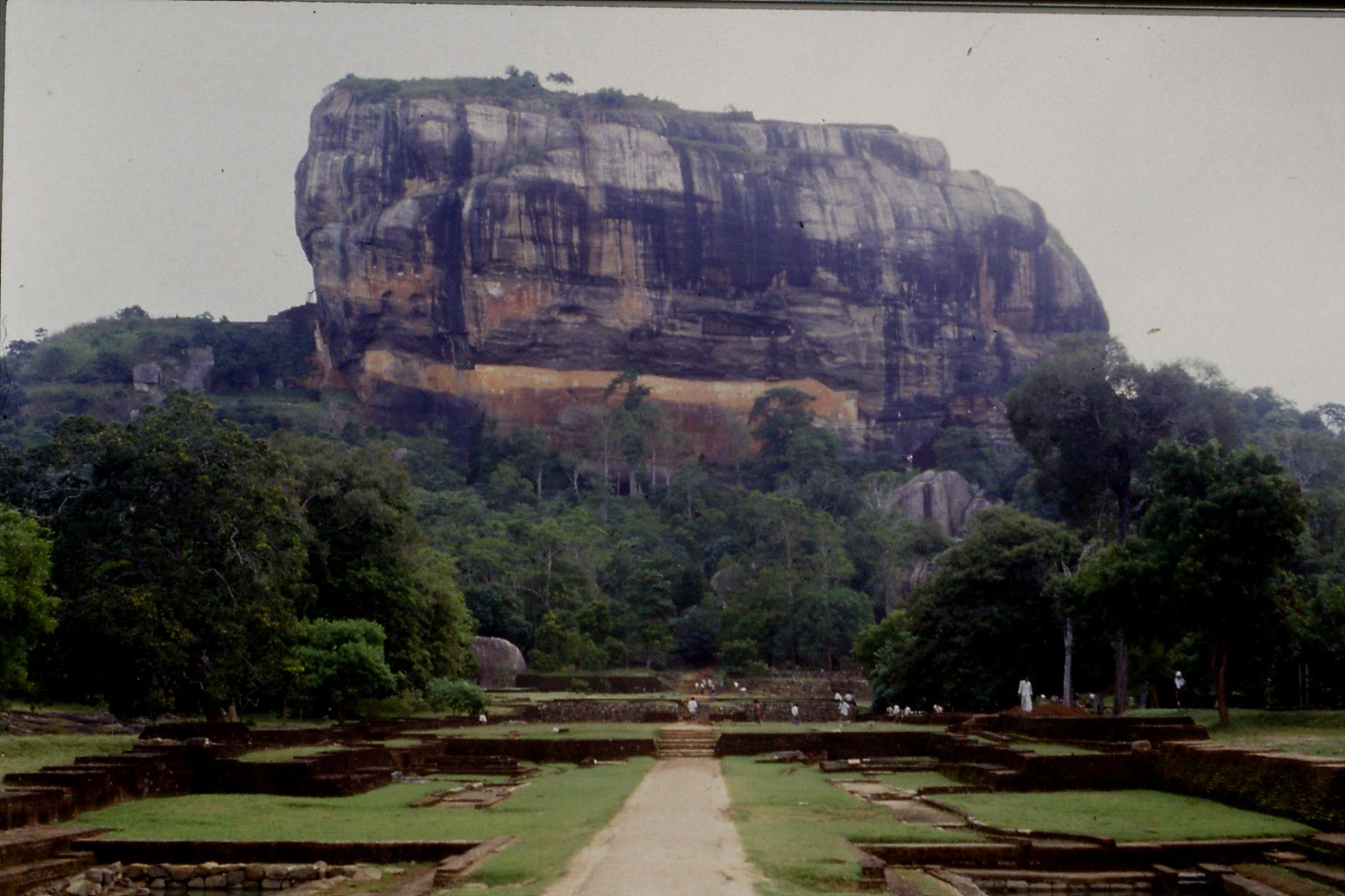 102/31: 7/2/1990 Sigiriya - rock and summer palace gardens in foreground