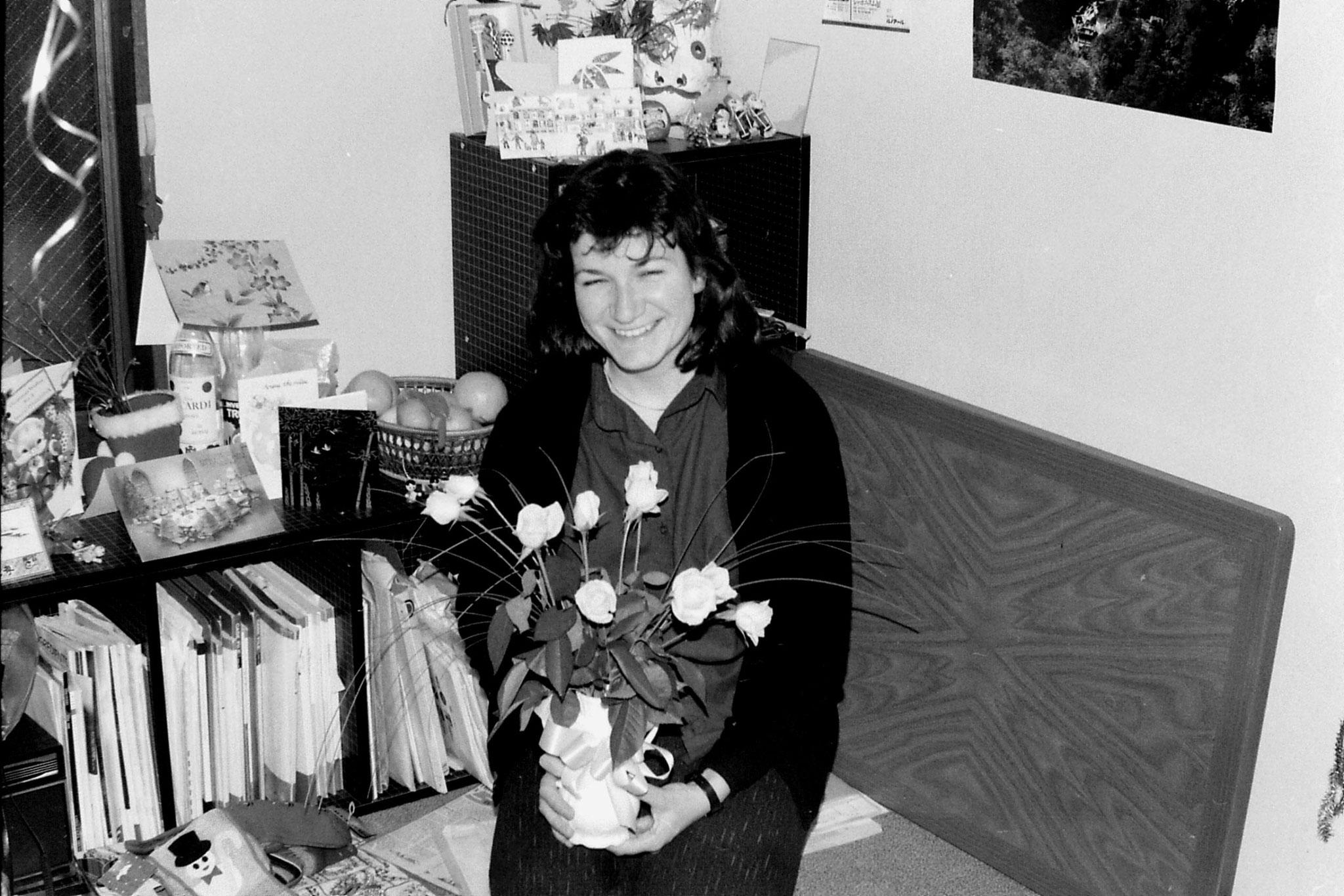 28/12/1988: 27: Joy with cake