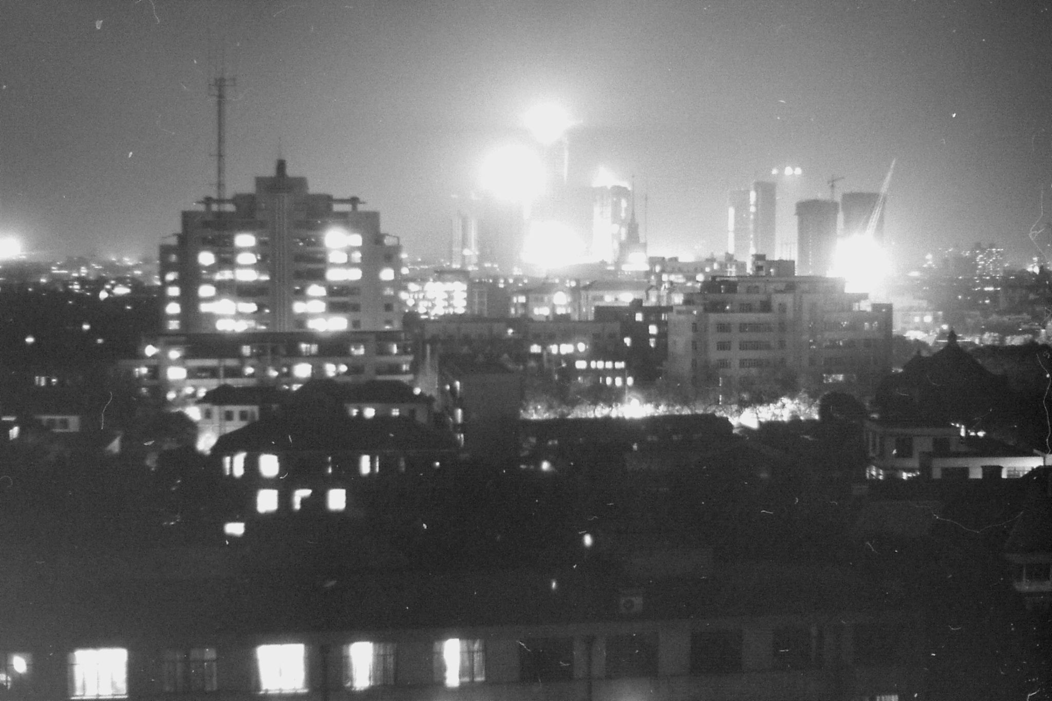 15/12/1988: 26: night view of Shanghai