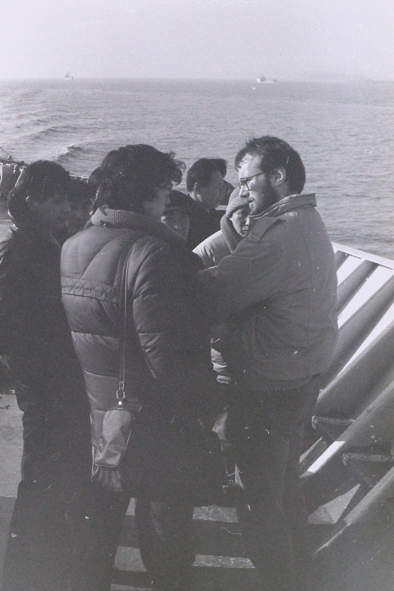 12/2/1989: 11: pictures on boat from Shanghai to Qingdao