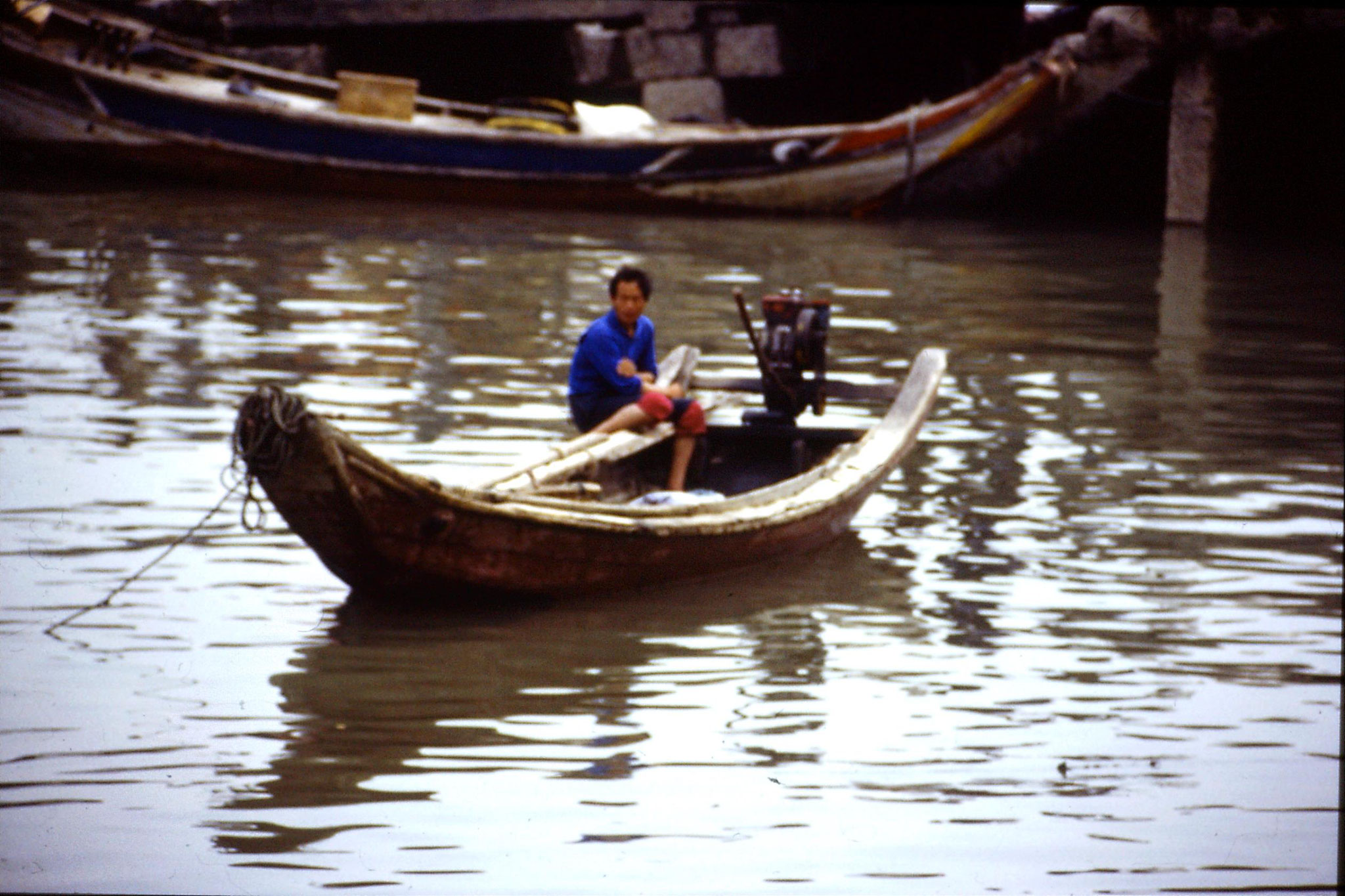 30/3/1989: 16: small boats at Gulanggu
